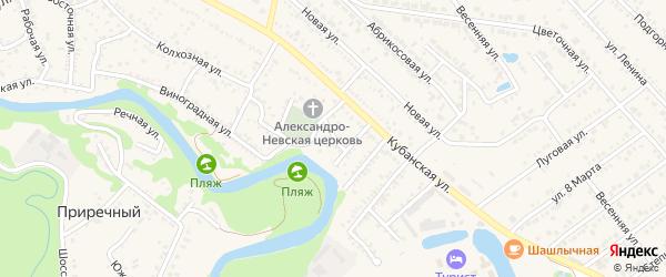 Малая улица на карте Краснооктябрьского поселка с номерами домов
