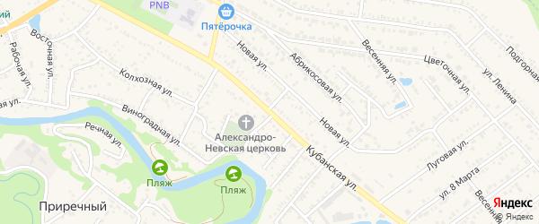 Кубанская улица на карте Краснооктябрьского поселка с номерами домов