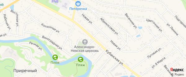 Кубанская улица на карте хутора Веселый (Абадзехское с/п) с номерами домов