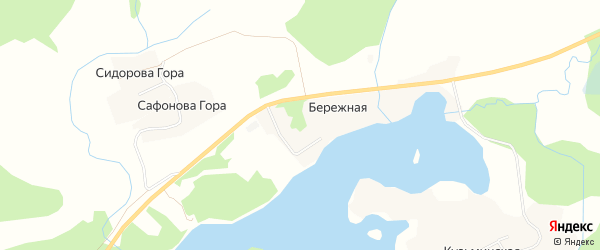 Карта деревни Сидоровой Горы в Архангельской области с улицами и номерами домов
