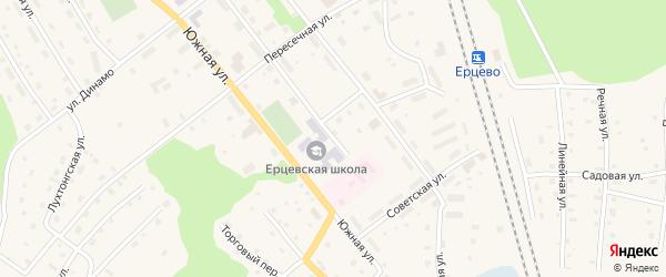 Больничная улица на карте поселка Ерцево с номерами домов