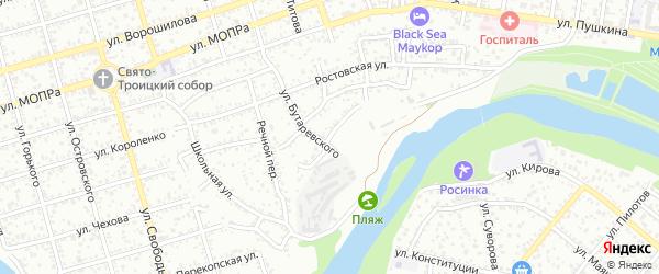 Набережная улица на карте Южного садового некоммерческого товарищества с номерами домов