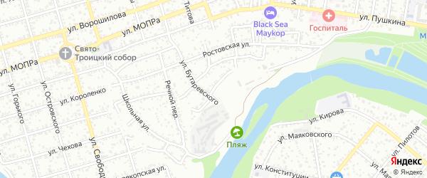 Набережная улица на карте садового некоммерческого товарищества Дружбы с номерами домов