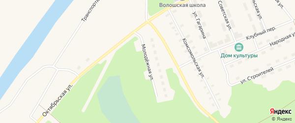 Молодежная улица на карте поселка Волошки с номерами домов