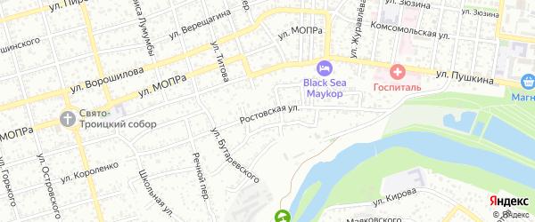 Ростовская улица на карте Майкопа с номерами домов