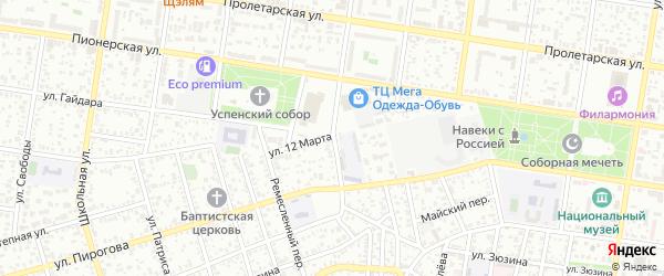 Кузнечный переулок на карте Майкопа с номерами домов