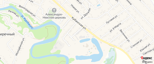 Улица Туристов на карте Краснооктябрьского поселка с номерами домов