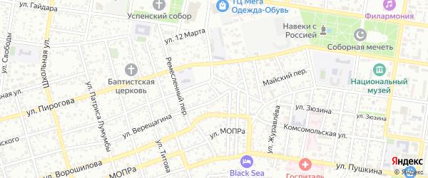 Щегловский переулок на карте Майкопа с номерами домов