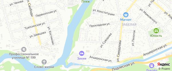 Переулок Ушакова на карте Майкопа с номерами домов