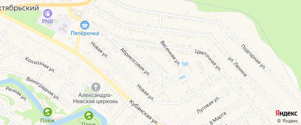 Улица Строителей на карте Краснооктябрьского поселка с номерами домов