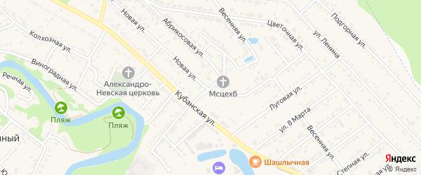 Улица Дружбы на карте Краснооктябрьского поселка с номерами домов