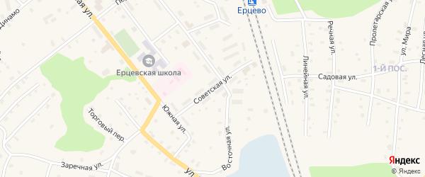 Советская улица на карте поселка Ерцево с номерами домов