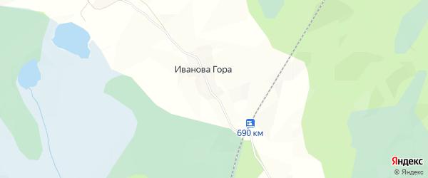 Карта деревни Ивановой Гора в Архангельской области с улицами и номерами домов