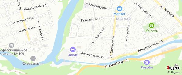 Улица Невского на карте Майкопа с номерами домов