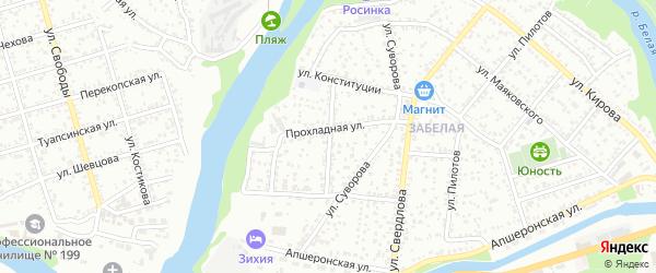 Садовая улица на карте садового некоммерческого товарищества Росинки с номерами домов