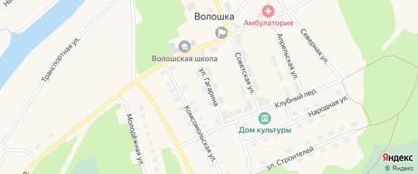 Улица Гагарина на карте поселка Волошки с номерами домов