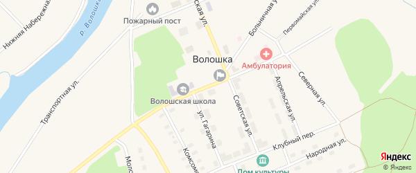 Улица Павла Корякина на карте поселка Волошки с номерами домов