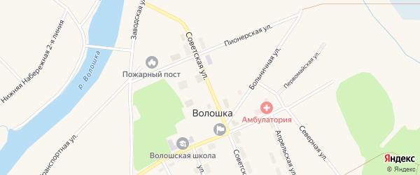 Советская улица на карте поселка Волошки с номерами домов
