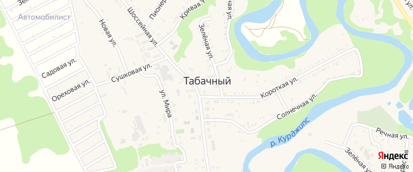 Грушовая 3-я улица на карте Табачного поселка с номерами домов