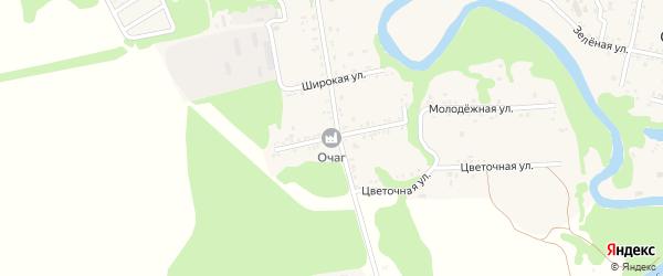 Красная улица на карте Табачного поселка с номерами домов