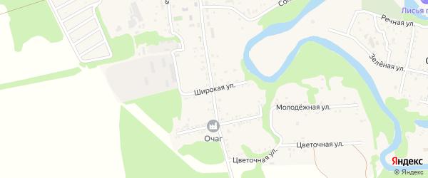 Широкая улица на карте Табачного поселка с номерами домов