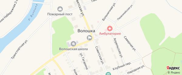 Транспортная улица на карте поселка Волошки с номерами домов