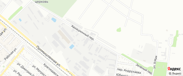 Авиационный переулок на карте Майкопа с номерами домов