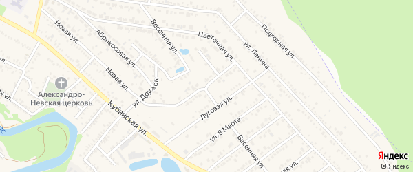 Вишневая улица на карте Краснооктябрьского поселка с номерами домов