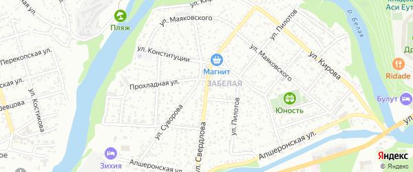 Улица Свердлова на карте Майкопа с номерами домов