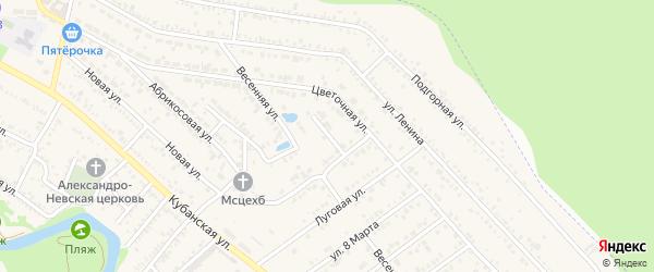 Вишневый переулок на карте Краснооктябрьского поселка с номерами домов