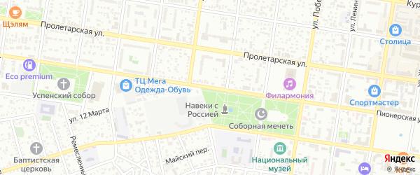 Пионерская улица на карте Майкопа с номерами домов
