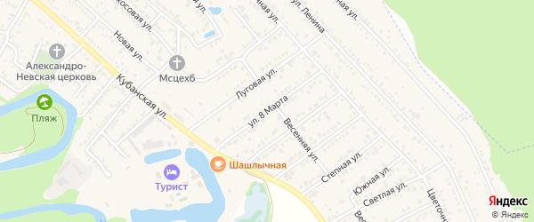 Улица 8 Марта на карте Краснооктябрьского поселка с номерами домов