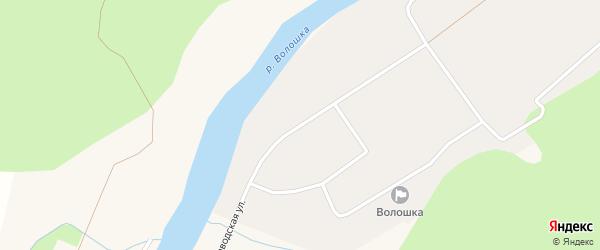 Заводская улица на карте поселка Волошки с номерами домов
