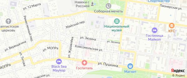 Улица Мичурина на карте Подгорного поселка с номерами домов