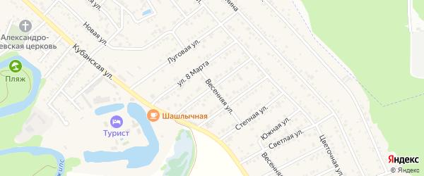 Кавказская улица на карте Краснооктябрьского поселка с номерами домов