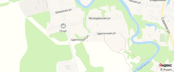 Цветочная улица на карте Табачного поселка с номерами домов