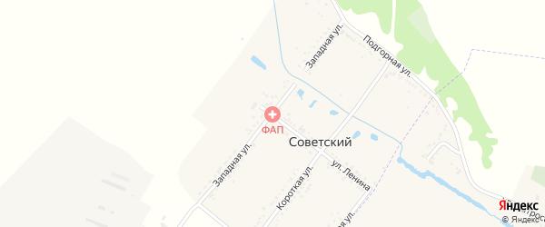Западная улица на карте Советского хутора с номерами домов