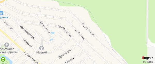 Улица Ленина на карте Краснооктябрьского поселка с номерами домов