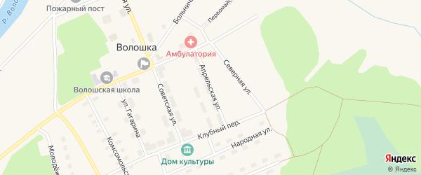 Апрельская улица на карте поселка Волошки с номерами домов