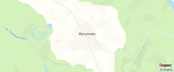 Карта деревни Фатуново в Архангельской области с улицами и номерами домов