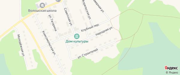 Народная улица на карте поселка Волошки с номерами домов