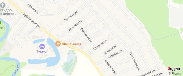 Российская улица на карте Краснооктябрьского поселка с номерами домов