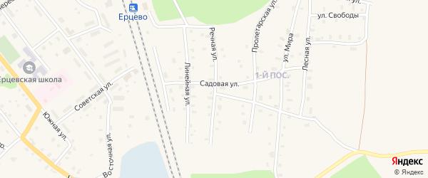 Речная улица на карте поселка Ерцево с номерами домов