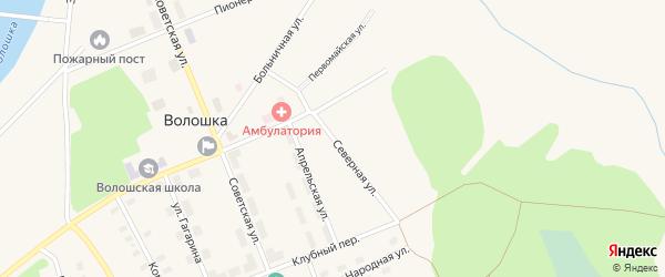 Северная улица на карте поселка Волошки с номерами домов