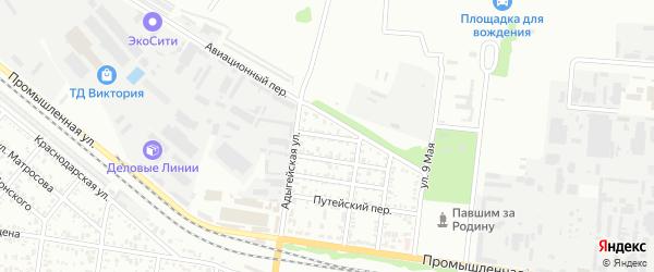 Зеленый переулок на карте Майкопа с номерами домов