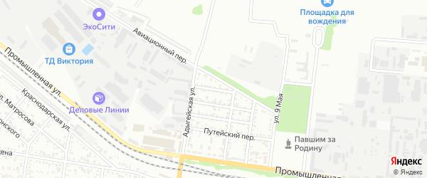 Зеленый переулок на карте садового некоммерческого товарищества Восхода с номерами домов