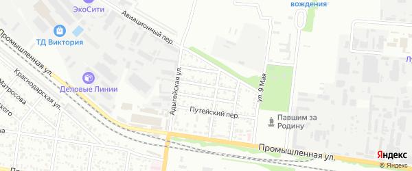 Переулок Андрухаева на карте Майкопа с номерами домов