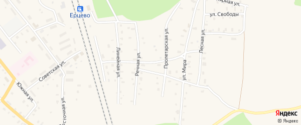Садовая улица на карте поселка Ерцево с номерами домов