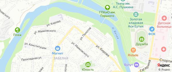 Улица Кирова на карте Майкопа с номерами домов