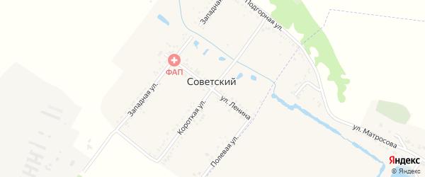 Короткая улица на карте Советского хутора с номерами домов